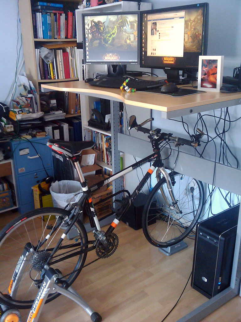 Mark's deskbike