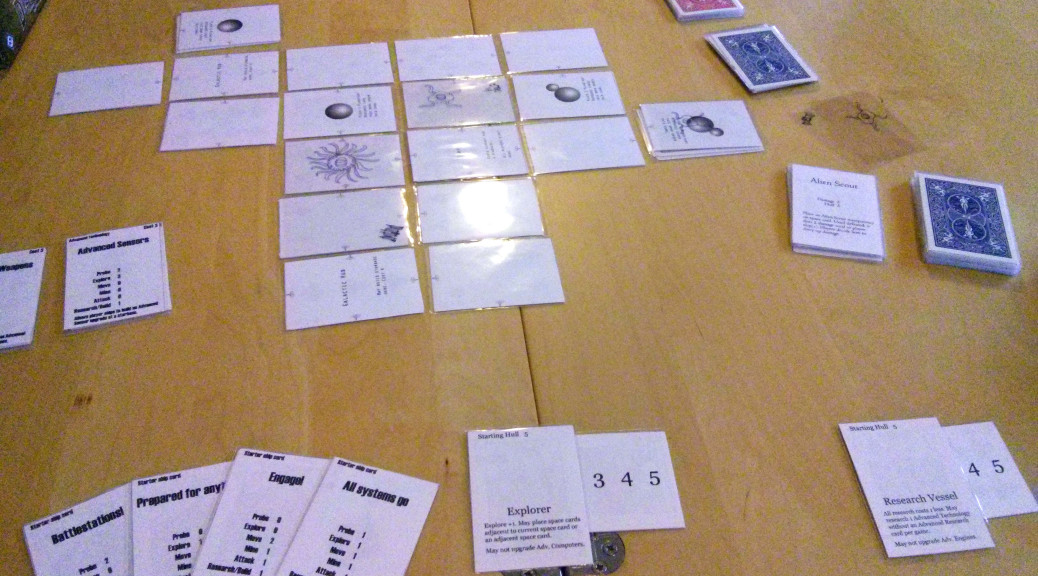 Space 4X Co-op Card Game version 3 overview